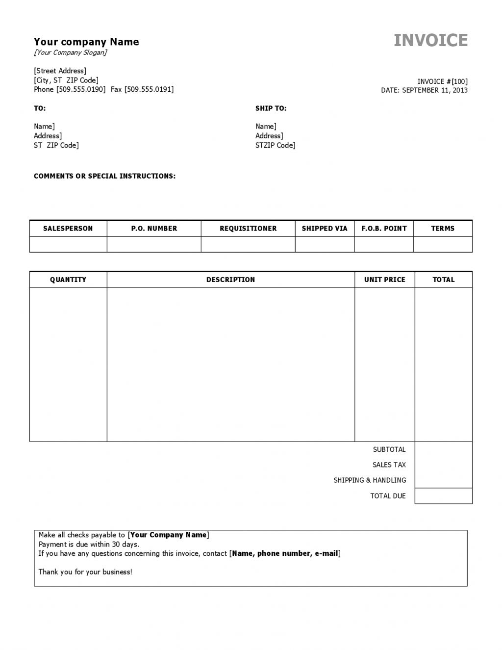 Copy Of An Invoice Invoice Template Ideas - Copy of invoice template