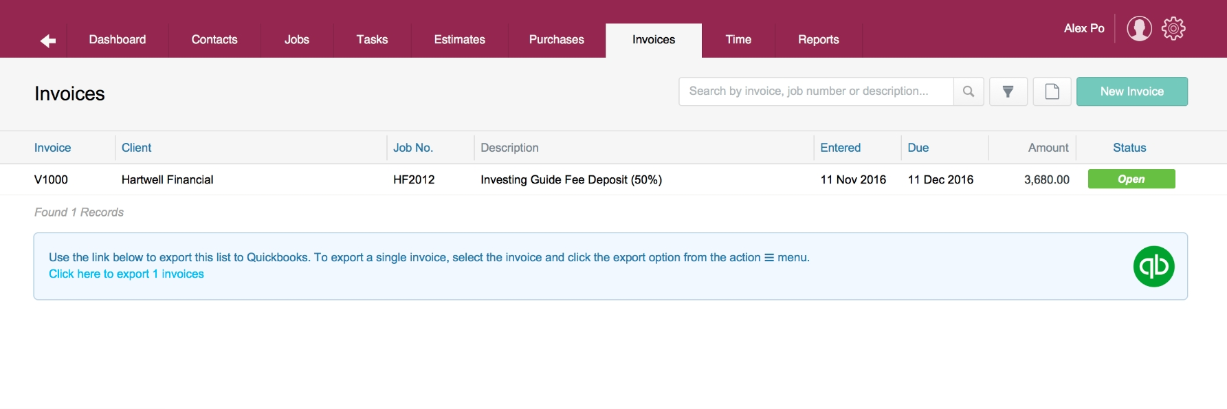 exporting invoices to quickbooks briefcase support export invoices from quickbooks