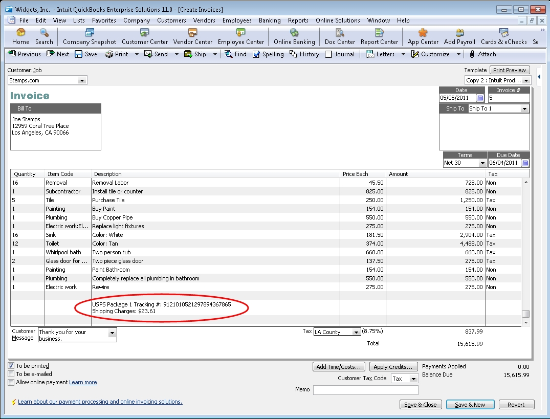 quickbooks shipping manager intuit invoice manager
