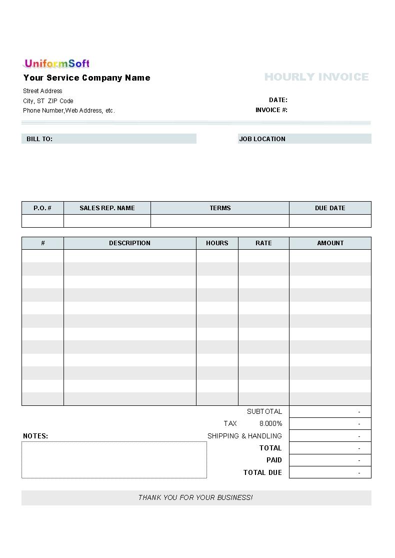 blank service invoice blankinvoice blank invoice format