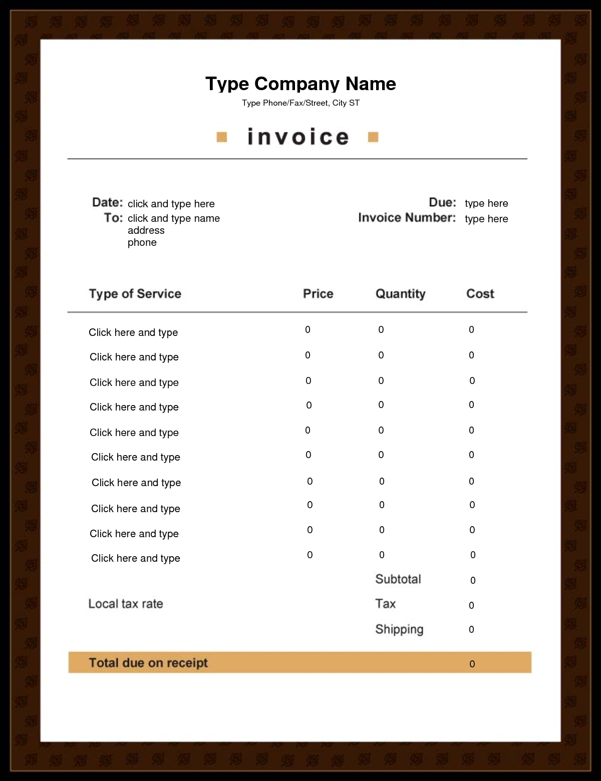 editable invoice template best photos of editable invoice template pdf download free 1200 X 1560