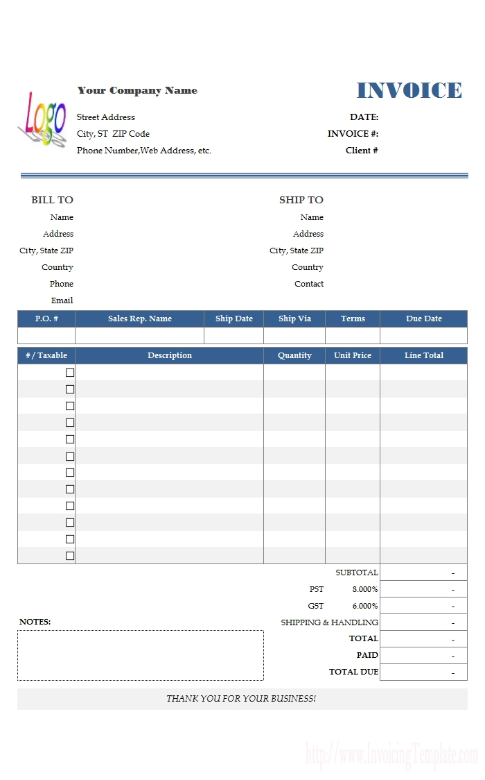 excel invoice log template invoice log template