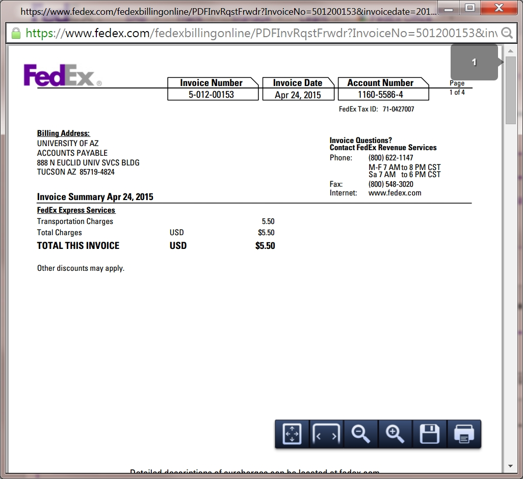 fedex invoice number fedex invoice management financial services office the 1026 X 941