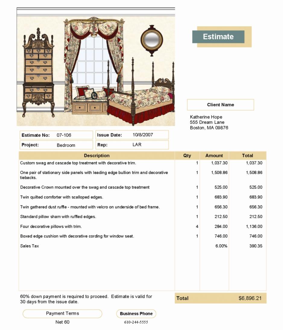free painting bid template quick quote for quickbooks interior design invoice template