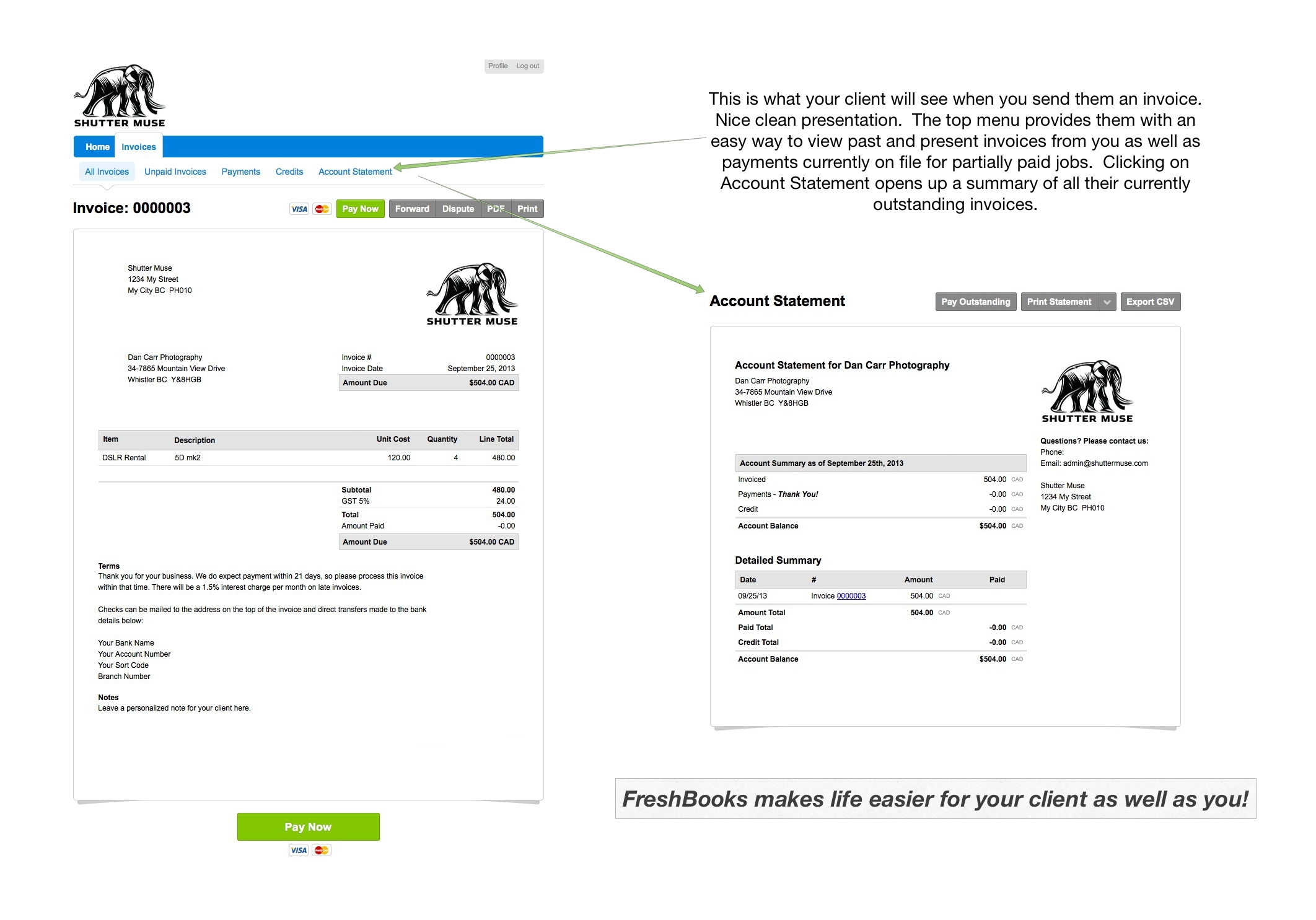 Freshbooks Invoice Templates Invoice Template Ideas - Freshbooks invoice template