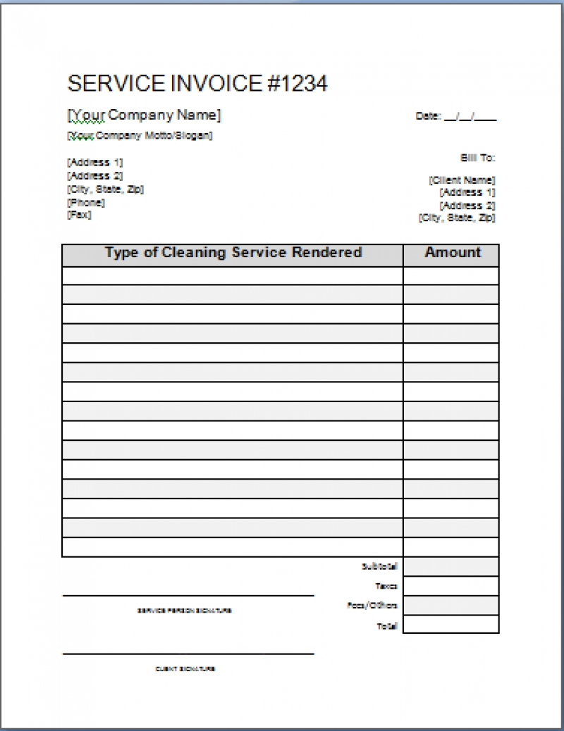 house cleaning invoice template free residers cleaning invoice template