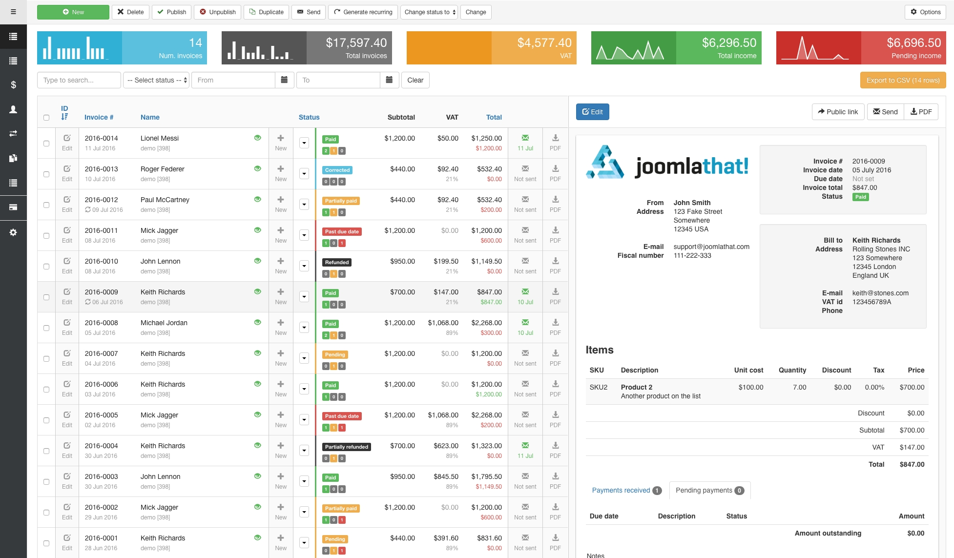 invoice manager invoice billing creator manager joomlathat invoice manager app