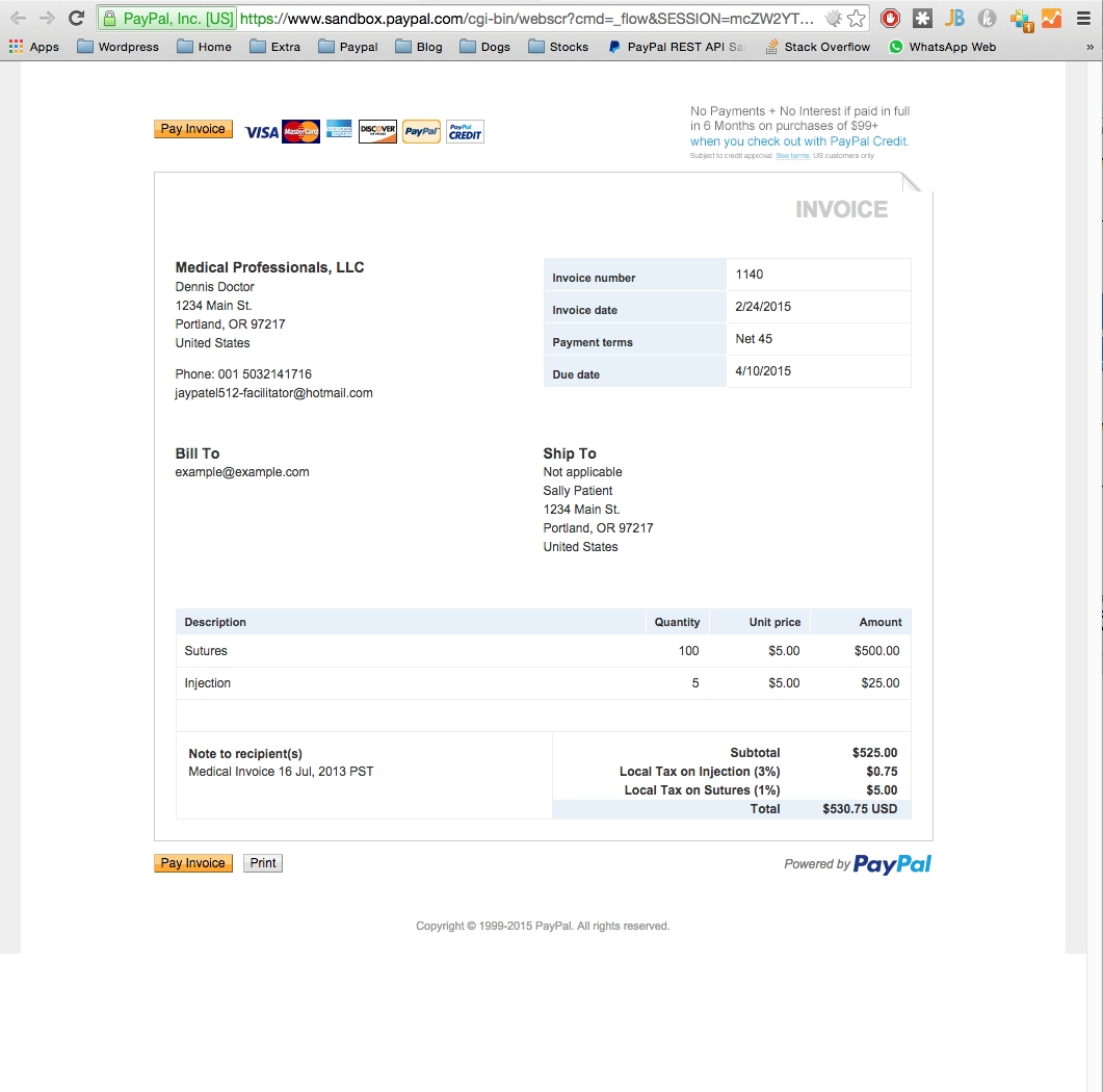 paypal php sdk set a tax in an invoice stack overflow invoice on paypal