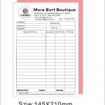 Custom Invoice Book