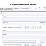 Recipient Created Tax Invoice Template
