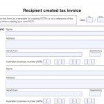 Recipient Created Tax Invoice Template