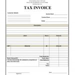 Tax Invoice Sample Template