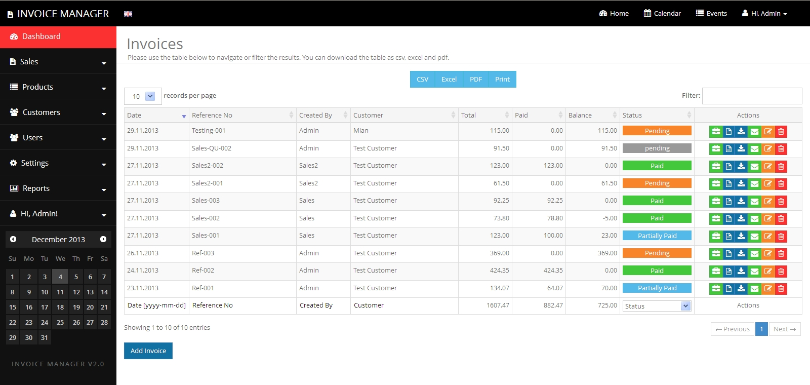 Invoice Manager App