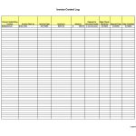 Invoice Log Template