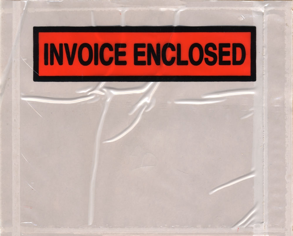 45 x 55 invoice enclosed packing list back loading panel invoice enclosed envelopes