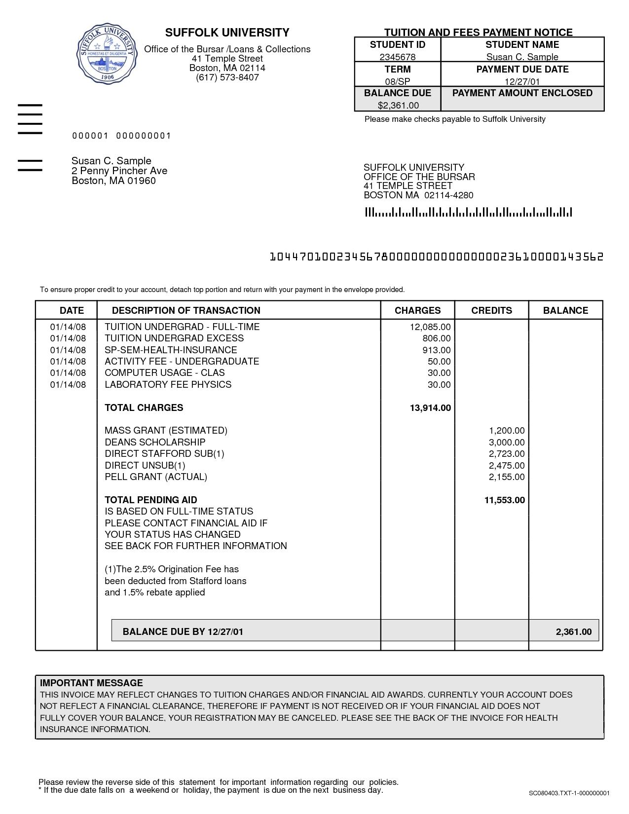 Sample Attorney Invoice