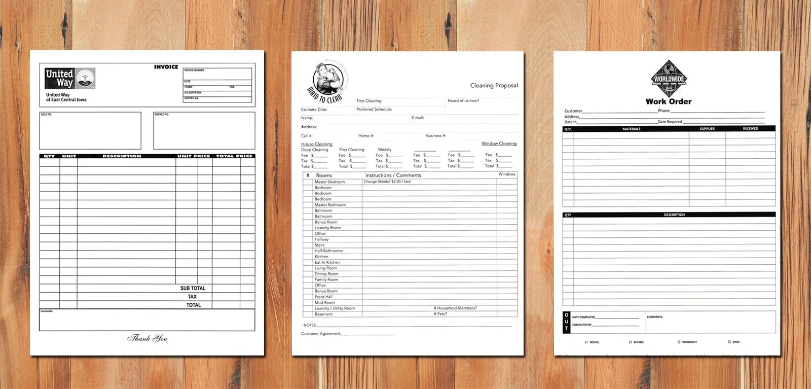 custom carbonless forms carbonless carbonless invoice printing
