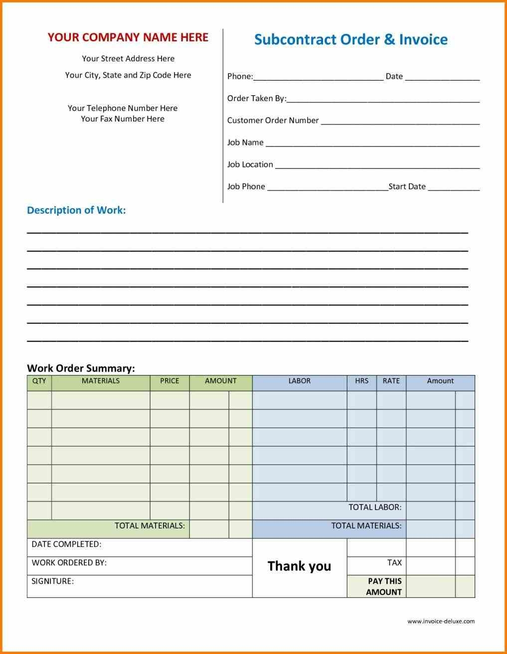 download work order receipt template the work order invoice order invoice template