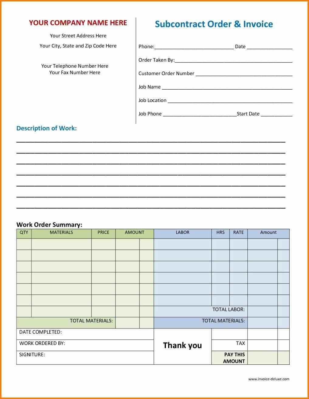 download work order receipt template the work order invoice order invoice template
