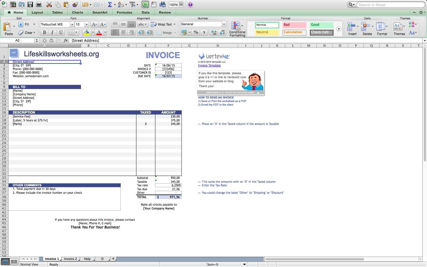 free invoice templates for excel mac blankinvoice excel invoice template for mac