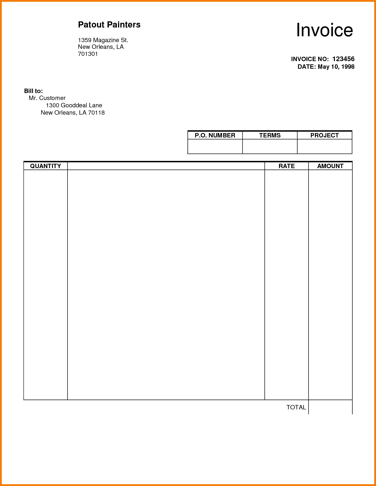 Blank Invoices Templates Invoice Template Ideas