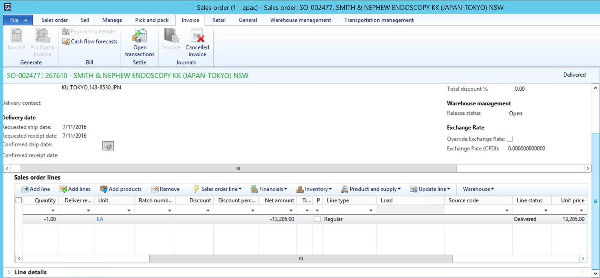 sales order invoice sales order invoice button disabled microsoft dynamics ax 2054 X 954