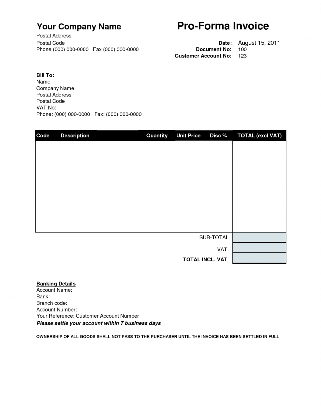 simple proforma invoicing sample blank invoice template free simple proforma invoice template