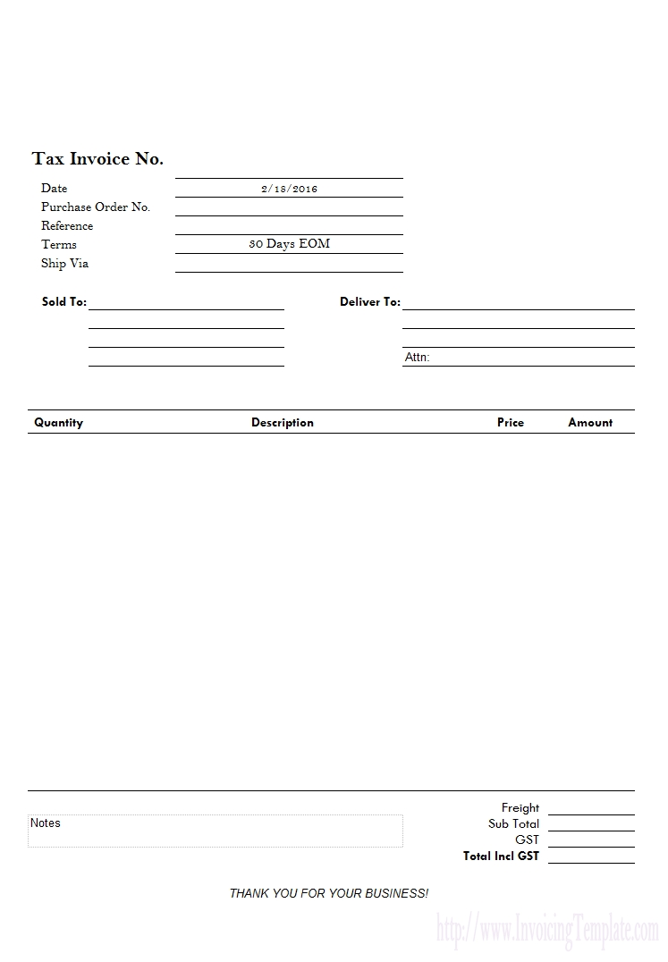 simple sample invoice sales invoice template 747 X 1076