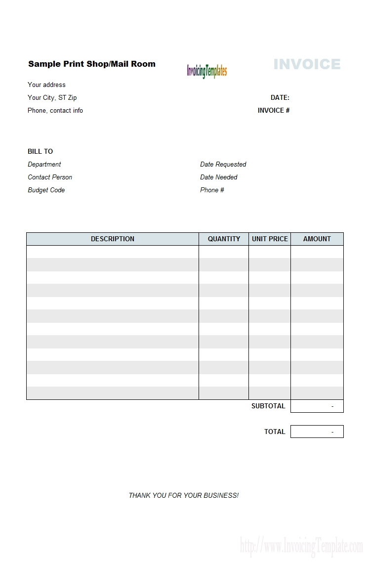 tax invoice for printing shop invoice printing company