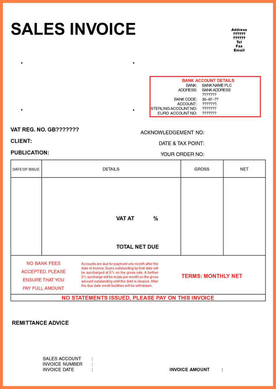 Ltd Company Invoice Template