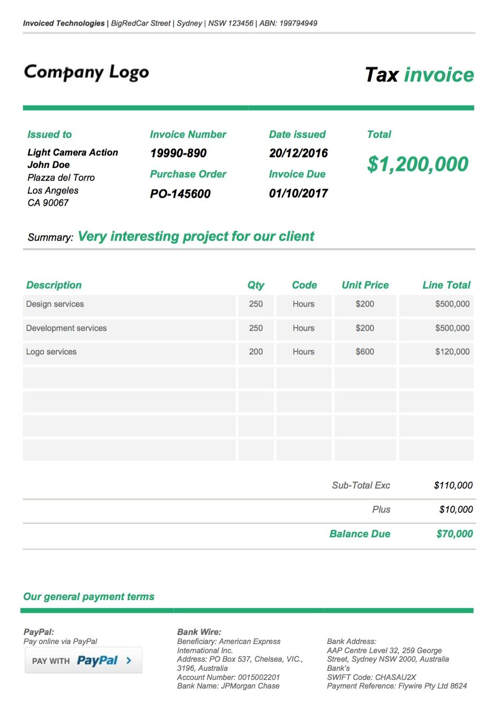 custom design google doc invoice theme xfive google spreadsheet invoice
