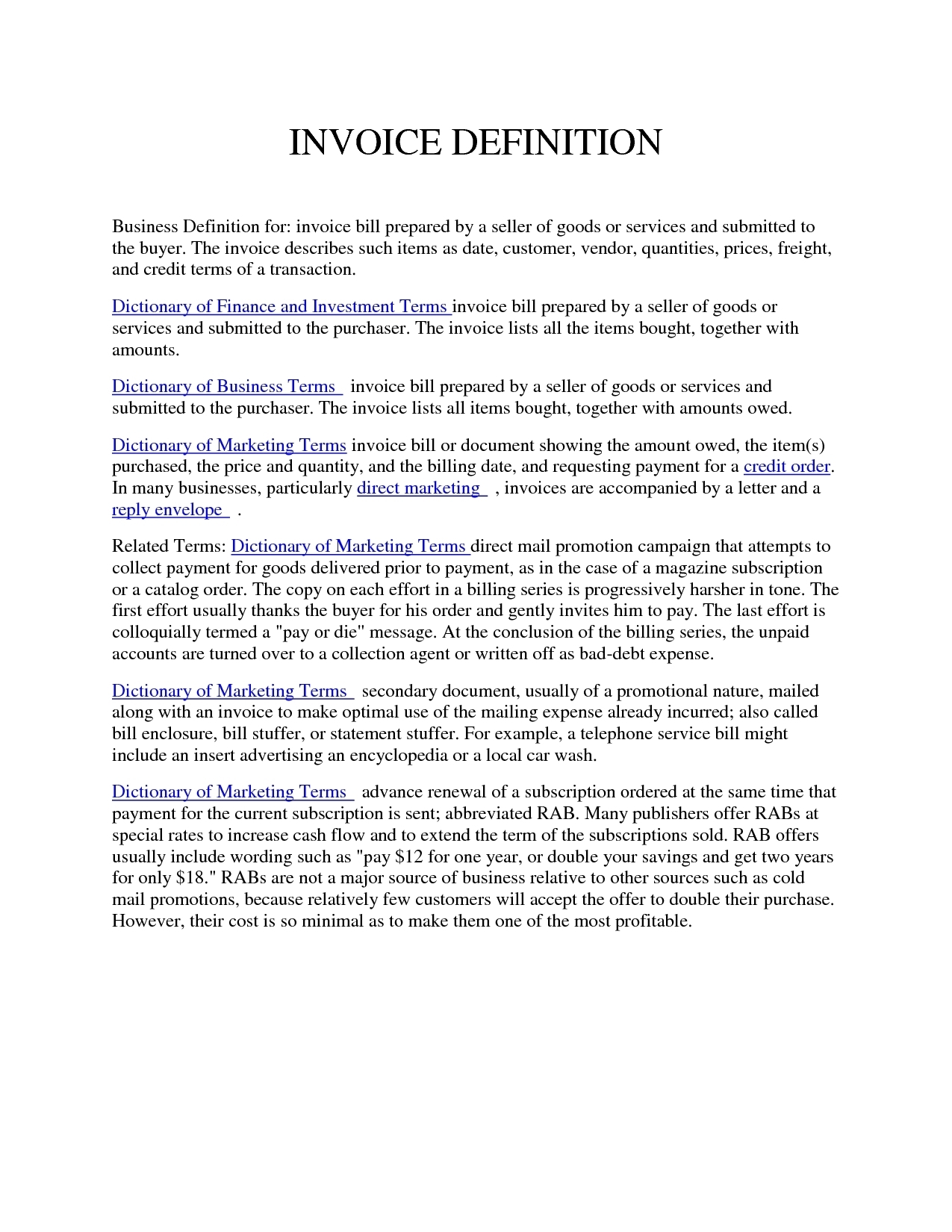 definition of invoice invoice template ideas invoice definition business