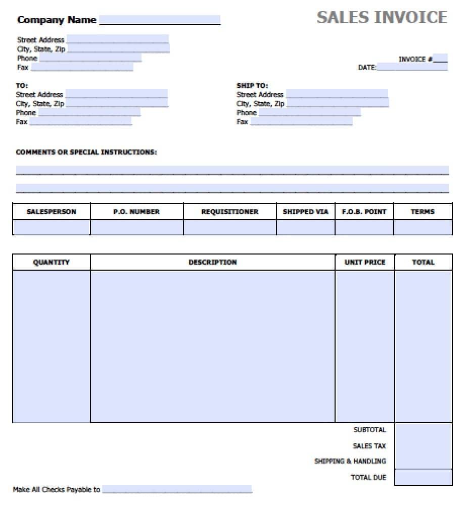 A Sales Invoice