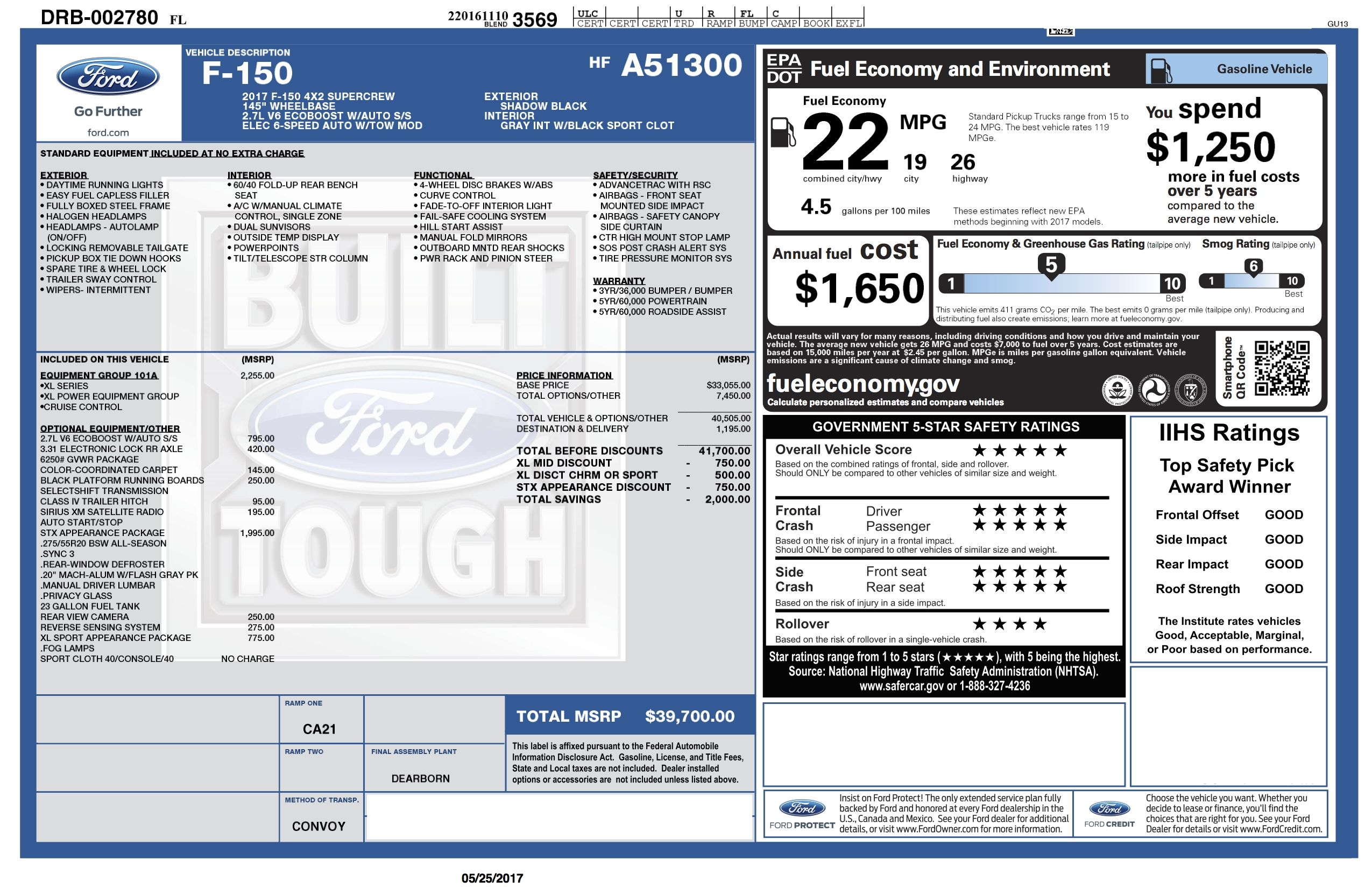 just tell us your under invoice price paid page 307 ford f150 invoice prices for new trucks
