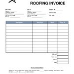 Sample Roofing Invoice