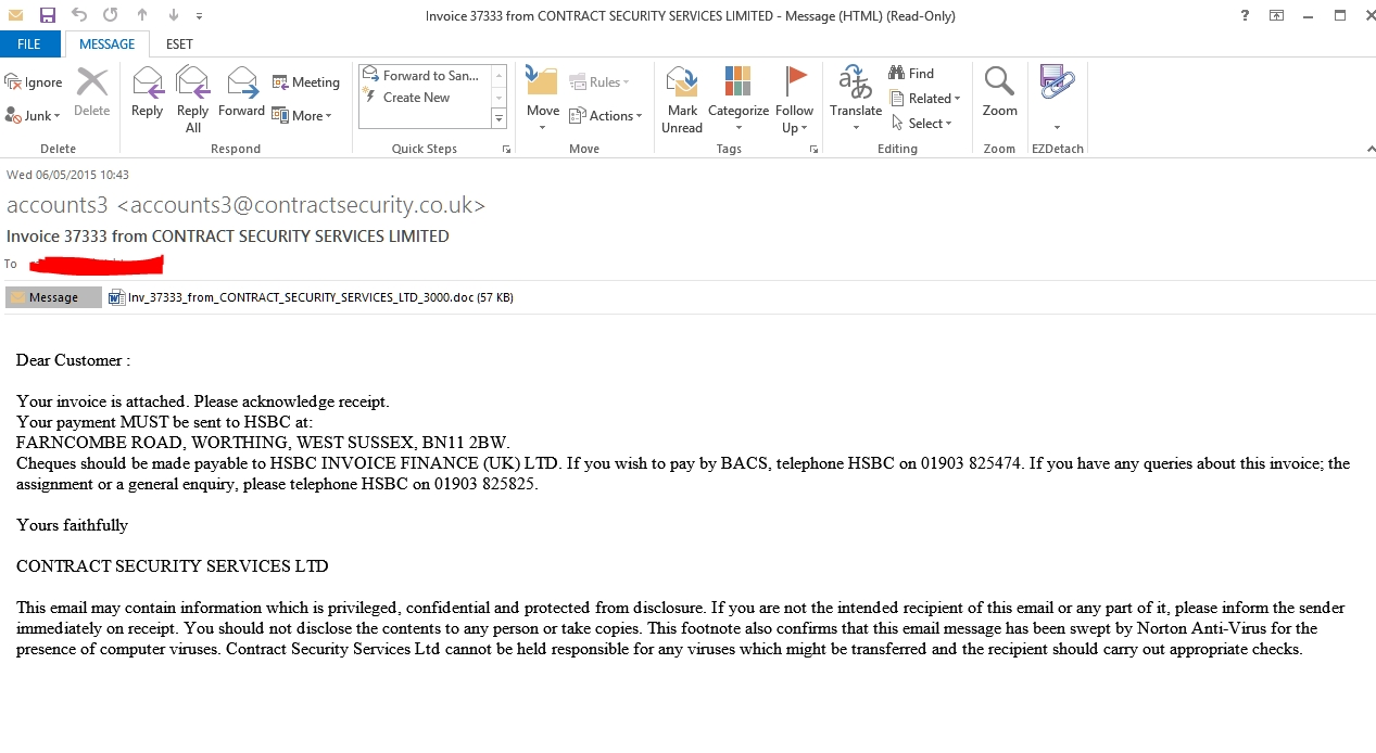 spam frauds fakes and other malware deliveries page 71 please find attached our invoice