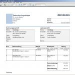 Translation Invoice Sample