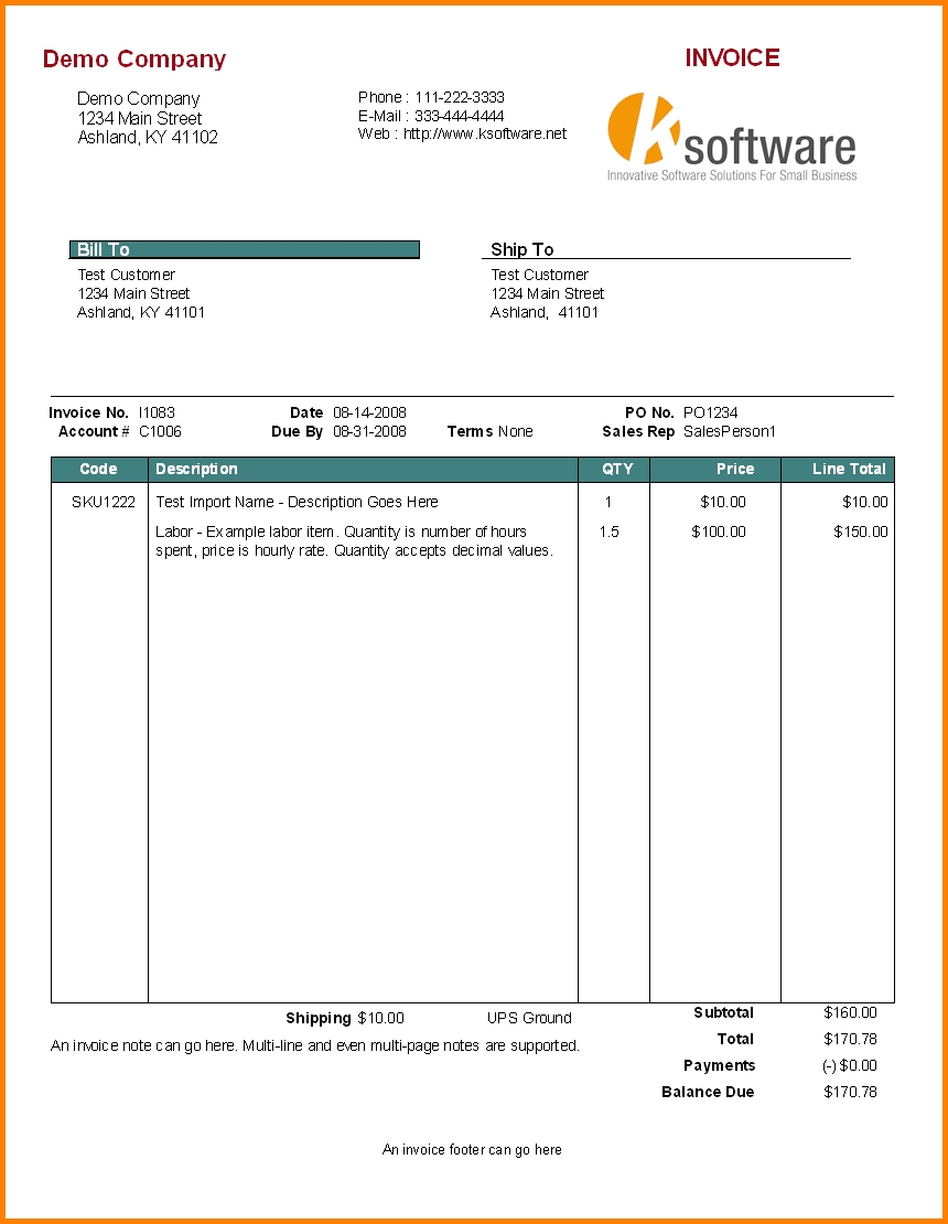 7 bill for services rendered template simple bill services rendered invoice