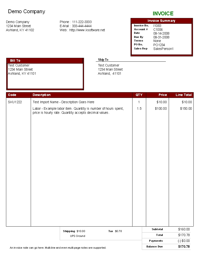 billing software invoicing software for your business example sample invoices pdf