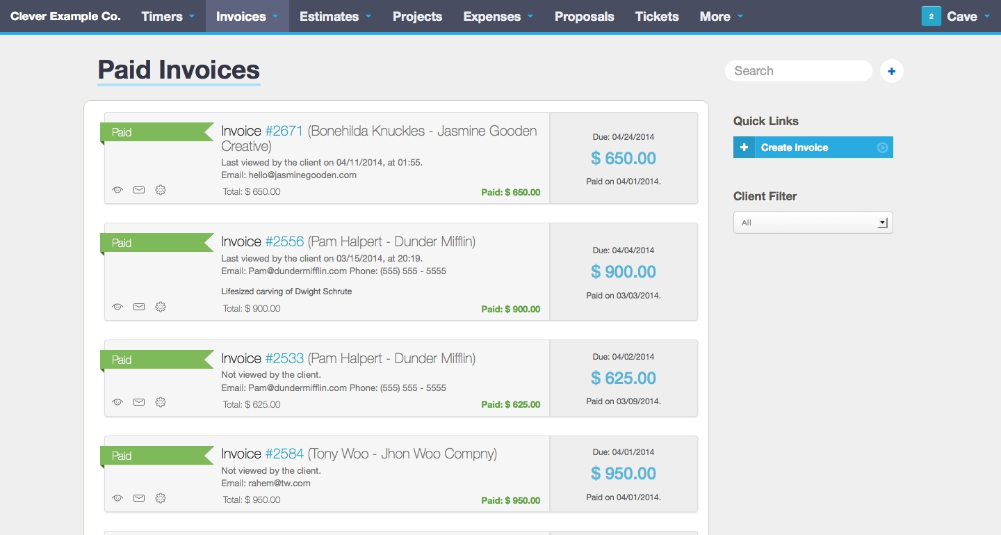 online invoicing time tracking and project management software invoice web app