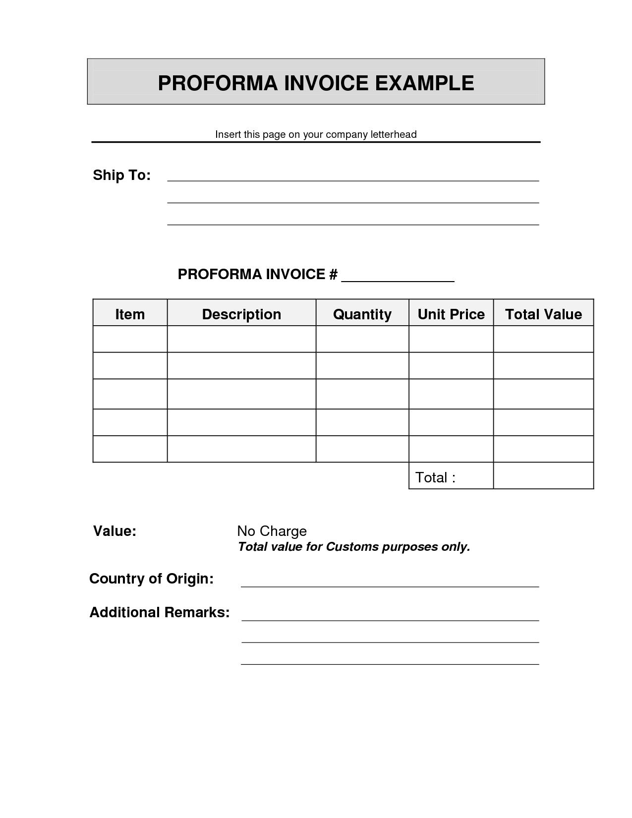 proforma invoice format commercial ups pr mdxar sample proforma invoice doc