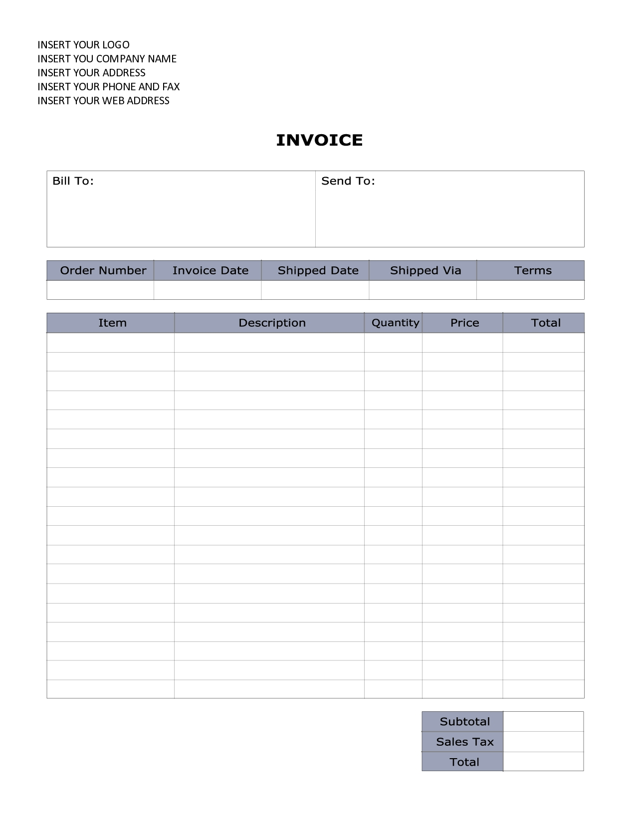 Free Invoice Receipt Template Invoice Template Ideas - Example of invoice receipt