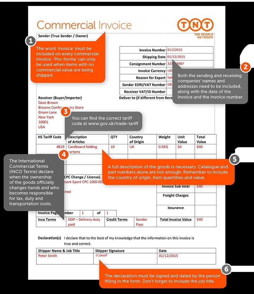 tnt e invoice invoice template ideas tnt proforma invoice