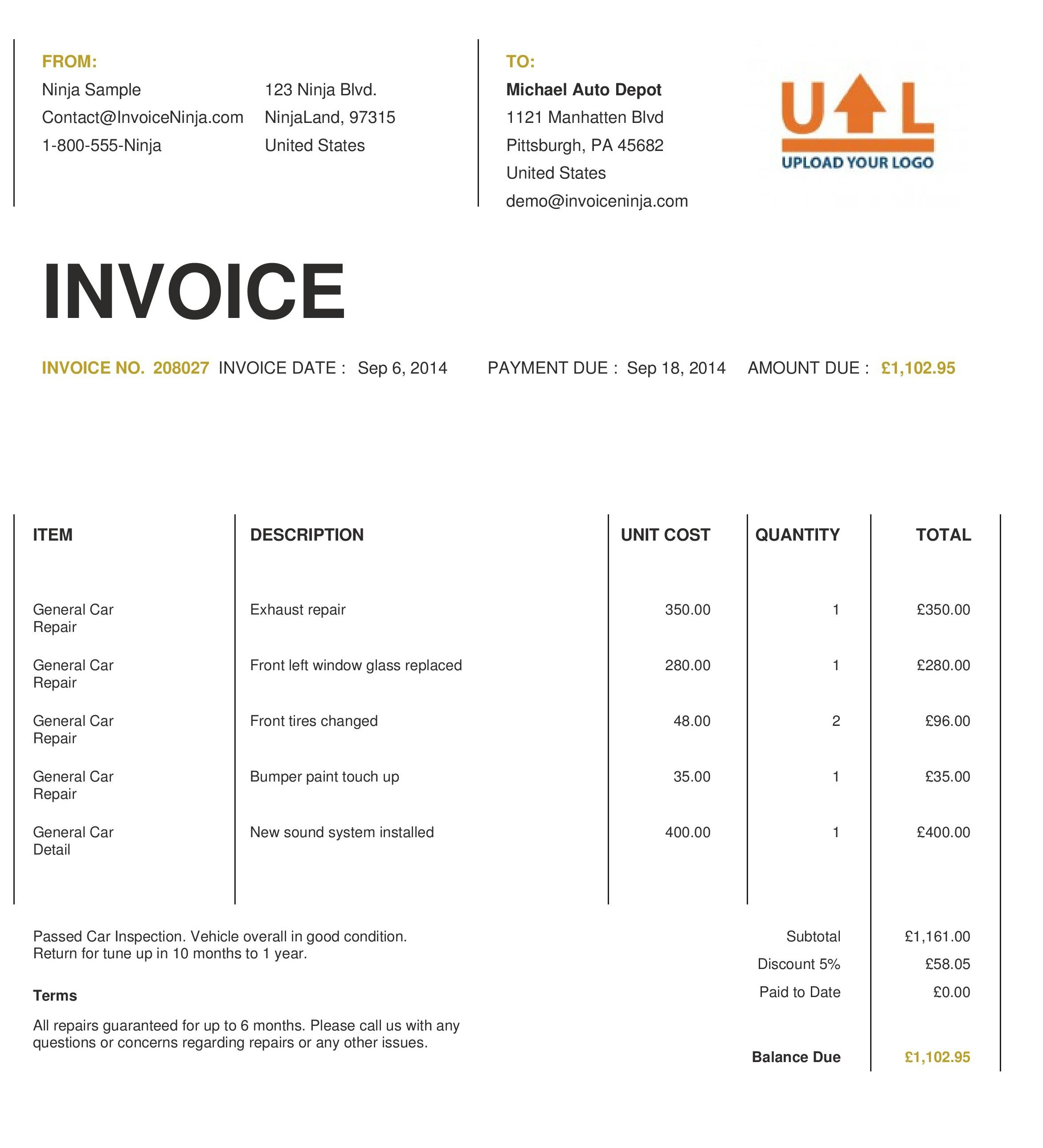 18 invoice templates excel pdf formats examples of invoice templates