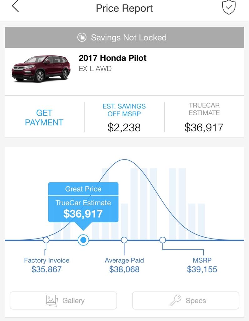 2017 honda pilot ex l invoice price image gallery hcpr honda invoice price