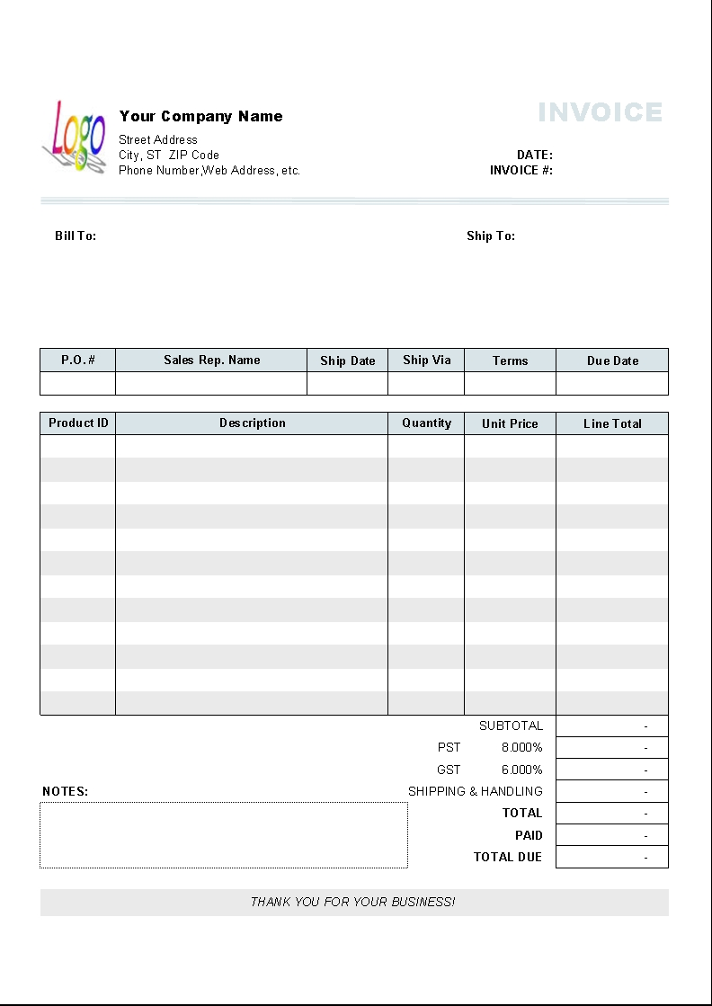 free editable invoice templates printable free business invoice forms