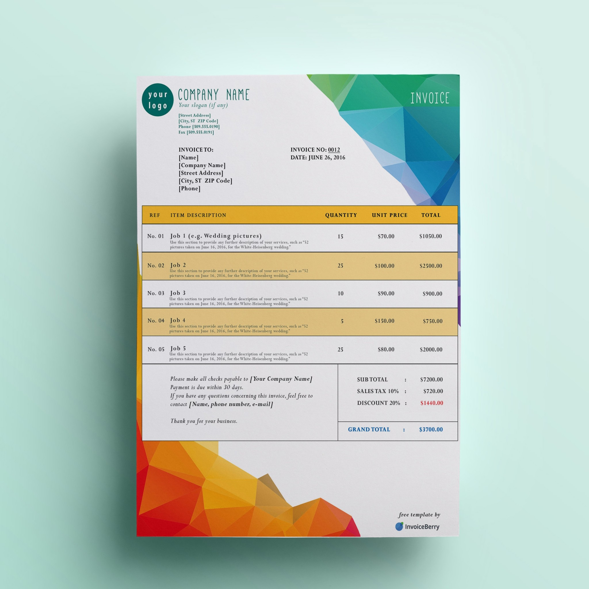 free invoice design template free invoice templates invoiceberry the grid system 2048 X 2048