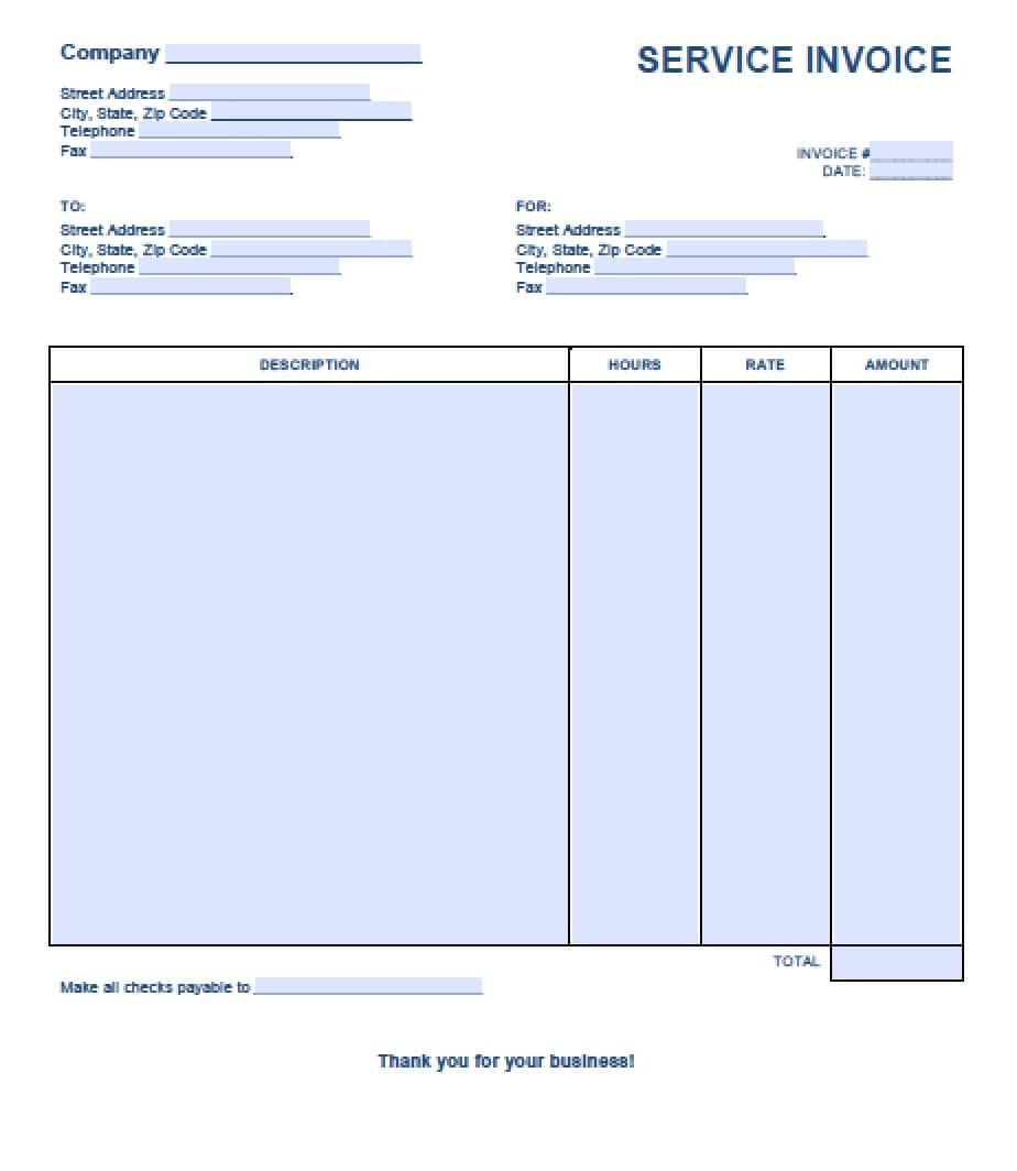 free service invoice template excel pdf word doc invoice template for services