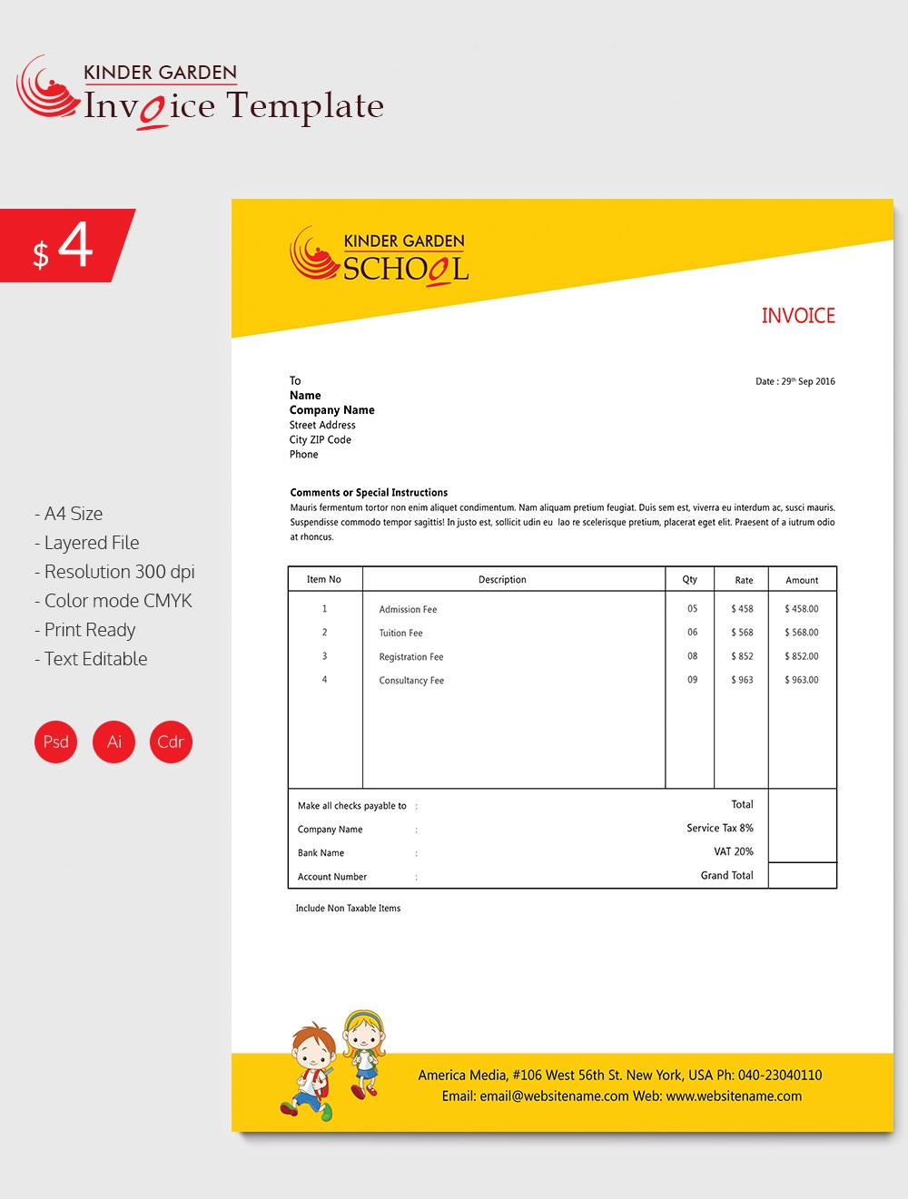 invoice template 41 free word excel pdf psd format download best invoice templates