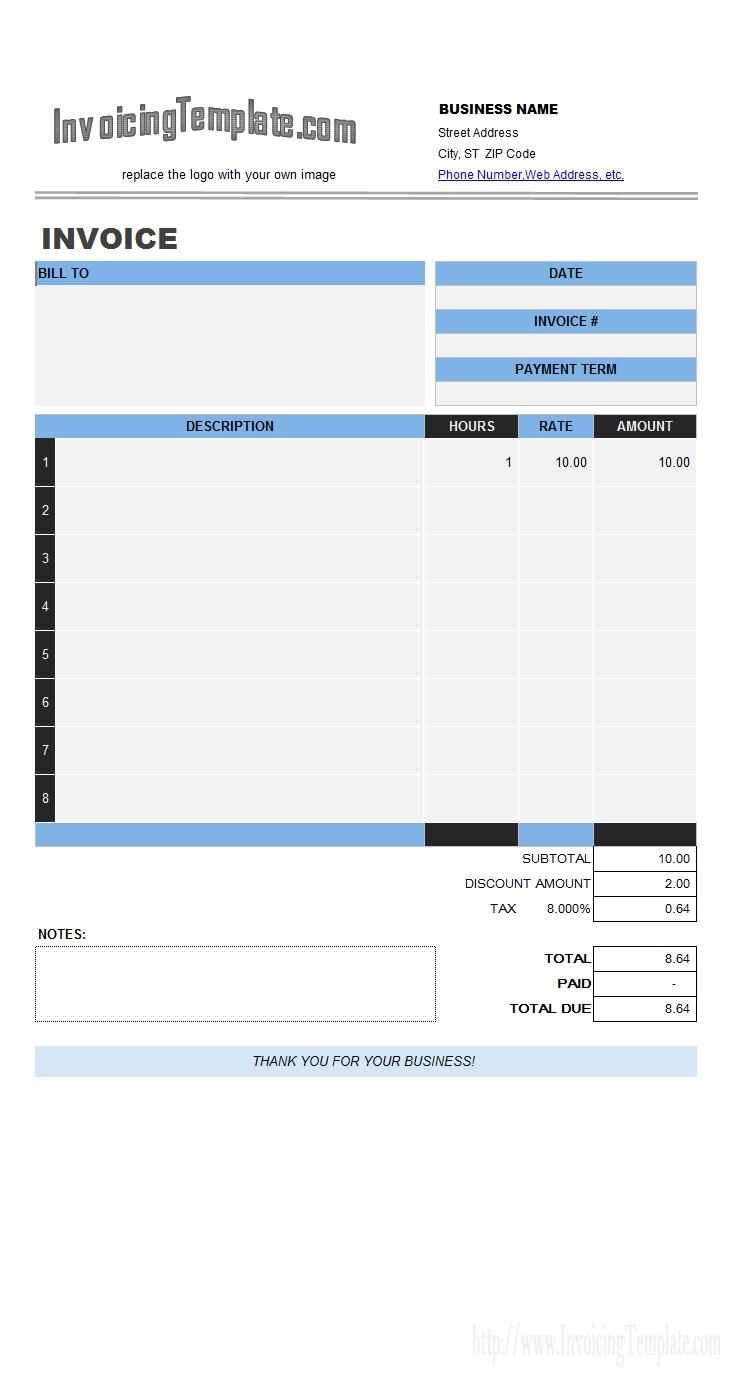 labor invoicing sample labor invoice template